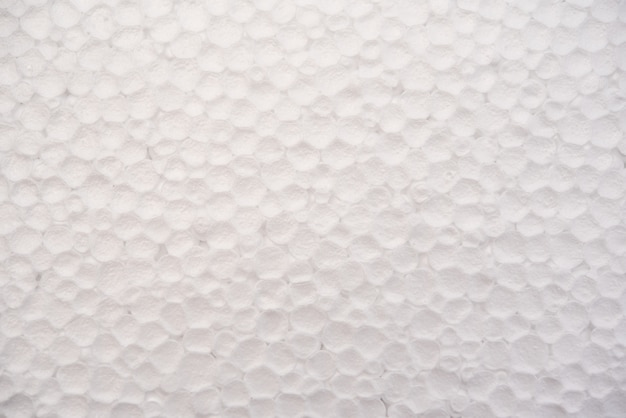 Fundo de folha de espuma branca