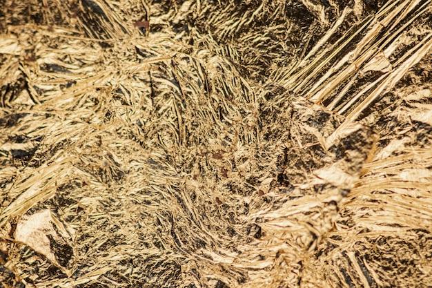 Fundo de folha de ouro metálico