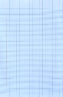 Fundo de folha de papel quadriculado branco