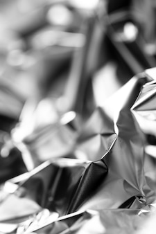 Fundo de folha de prata amassado