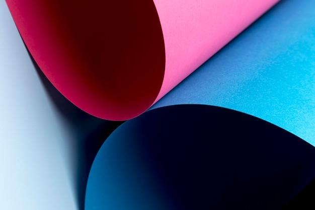 Fundo de folhas de papel colorido