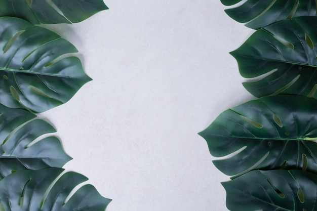 Fundo de folhas verdes artificiais