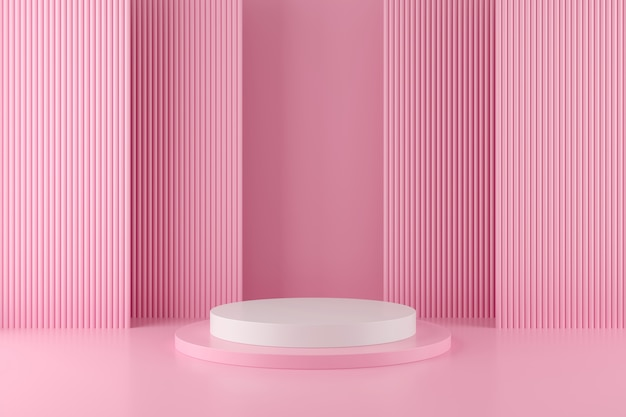 Fundo de forma abstrata geometria com minimalista pódio