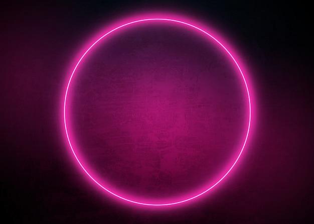 Fundo de forma de néon brilhante