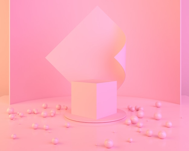 Fundo de forma geométrica abstrata cor-de-rosa