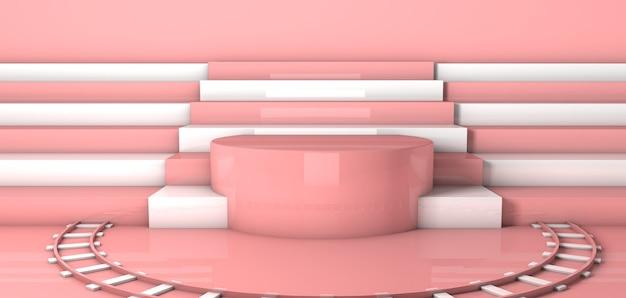 Fundo de forma geométrica com pedestal