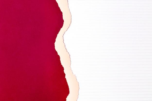 Fundo de formas de papel vermelho e rosa