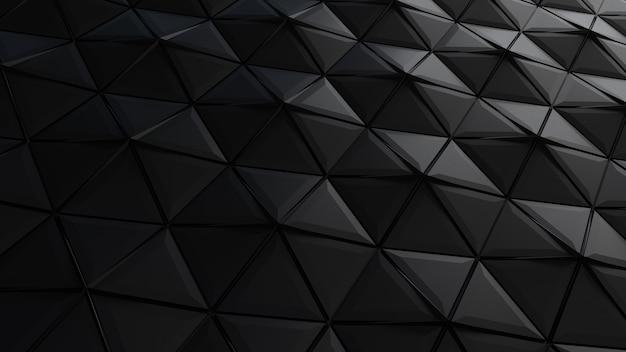 Fundo de formas de triângulo preto abstrato