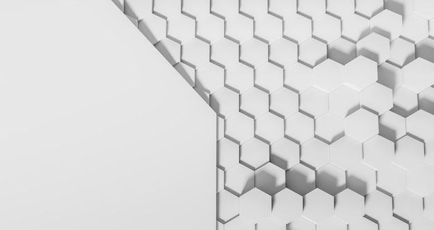 Fundo de formas geométricas brancas
