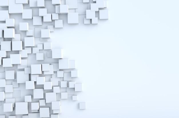 Fundo de formas geométricas cubo branco