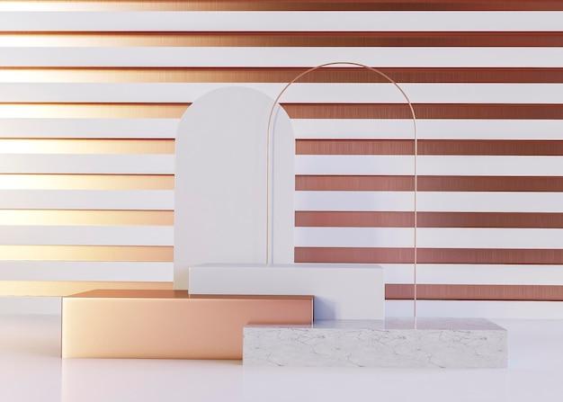 Fundo de formas geométricas de ouro rosa luxuoso