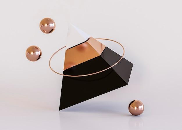 Fundo de formas geométricas de pirâmide de luxo