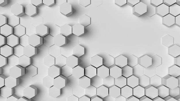 Fundo de formas geométricas hexagonais em relevo