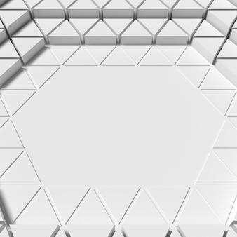 Fundo de formas poligonais branco com sombras