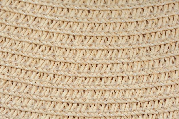 Fundo de foto macro de chapéus de palha