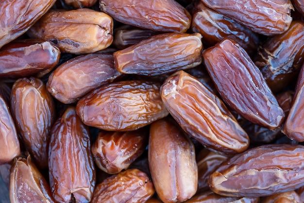 Fundo de frutas secas, close-up