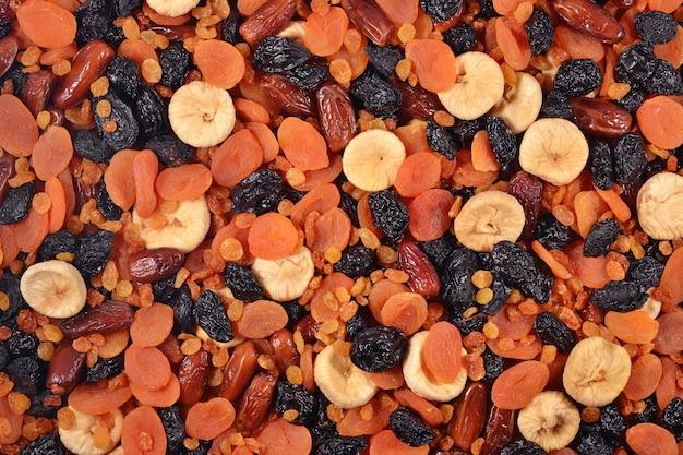 Fundo de frutas secas variadas