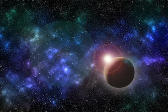 Fundo de galáxia do universo