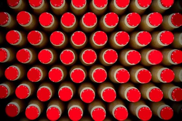 Fundo de garrafas de suco