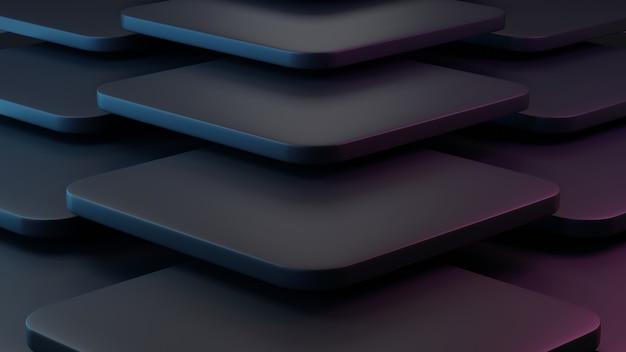Fundo de geometria 3d abstrato