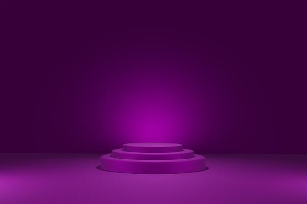 Fundo de geometria abstrata com pódio em renderização 3d