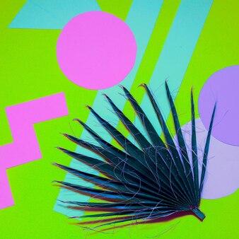 Fundo de geometria de palma. design colorido mínimo