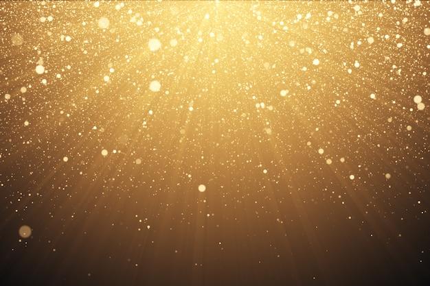 Fundo de glitter dourados com brilhos