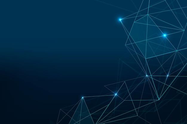 Fundo de grade digital futurista em azul escuro abstrato