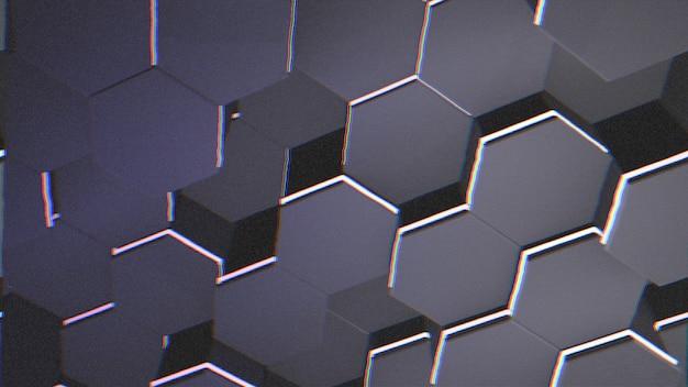 Fundo de grade hexagonal azul escuro grande, fundo abstrato. ilustração 3d de estilo elegante e luxuoso para negócios e modelo corporativo