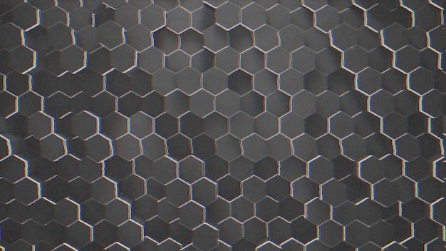 Fundo de grade hexagonal preto pequeno escuro, fundo abstrato. ilustração 3d de estilo elegante e luxuoso para negócios e modelo corporativo