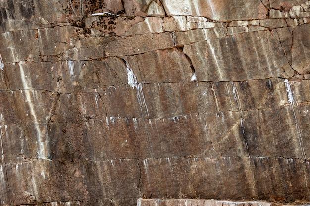 Fundo de granito marrom com rugas. a textura da pedra bruta.