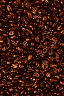 Fundo de grãos de café torrados