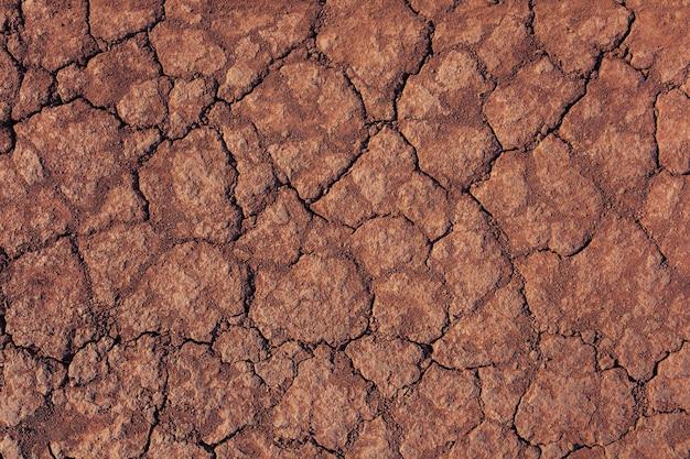 Fundo de grunge de close up de solo seco