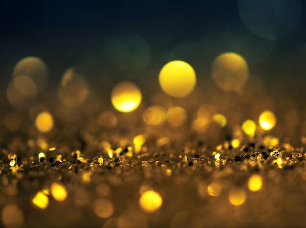 Fundo de grunge glitter luzes de ouro