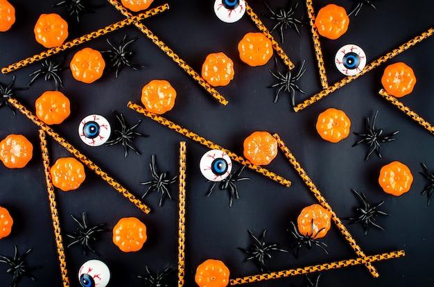 Fundo de halloween com muitas abóboras