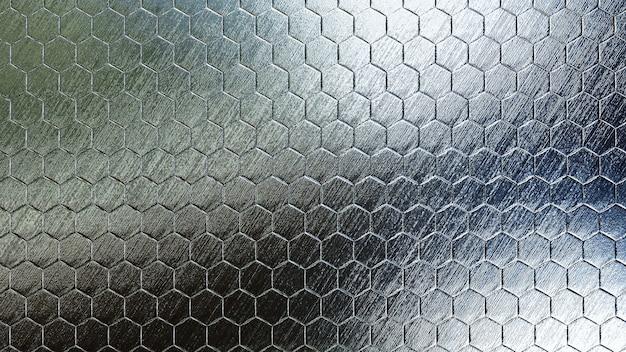 Fundo de hexágono metálico com textura real
