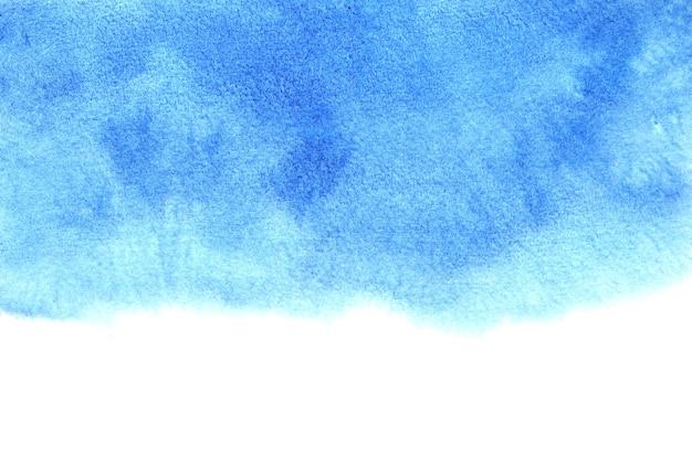 Fundo de inverno aquarela abstrato azul e branco