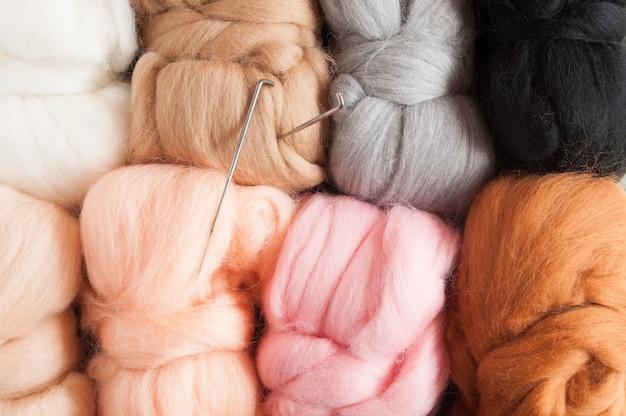 Fundo de lã. felting