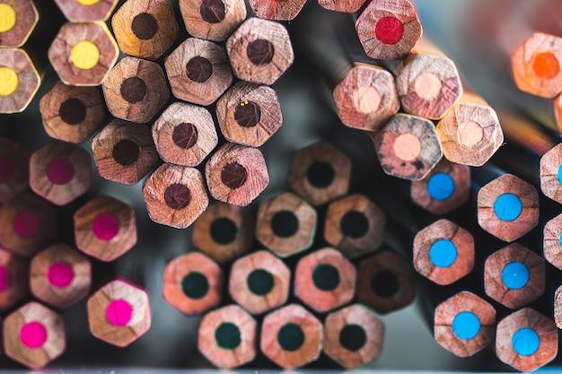 Fundo de lápis de cor.