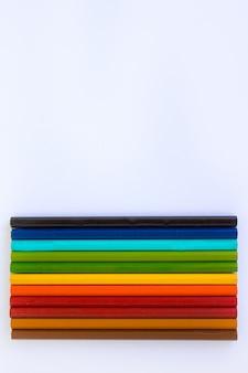 Fundo de lápis de cor