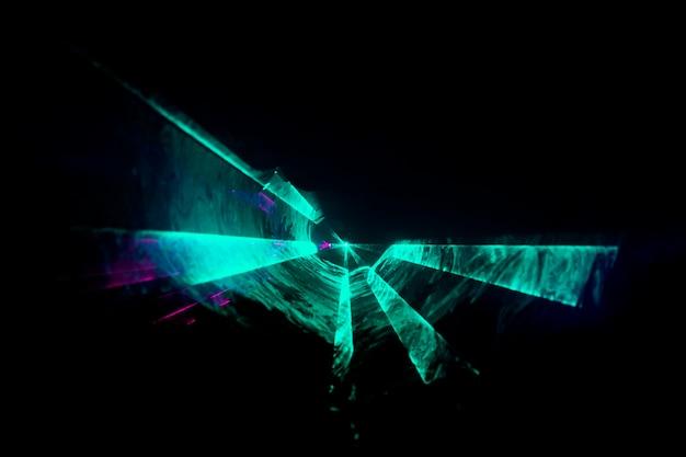 Fundo de laser óptico abstrato