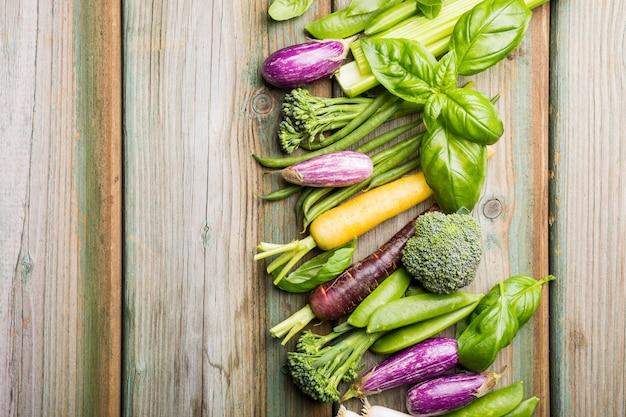 Fundo de legumes frescos
