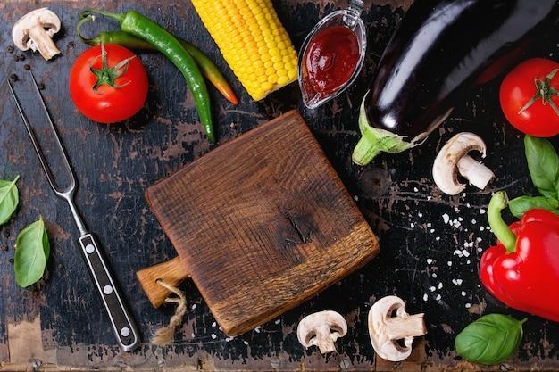 Fundo de legumes para churrasco