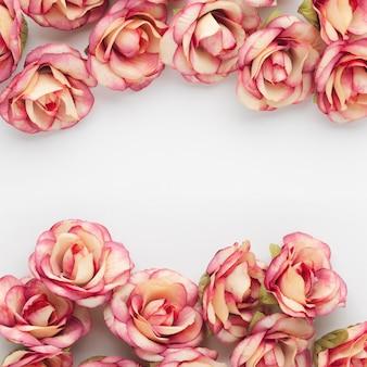 Fundo de lindas rosas com copyspace
