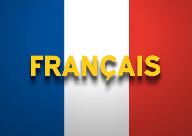 Fundo de língua francesa