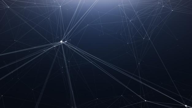 Fundo de linha abstrata de tecnologia de plexo