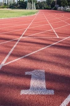 Fundo de linhas de estádio de atletismo