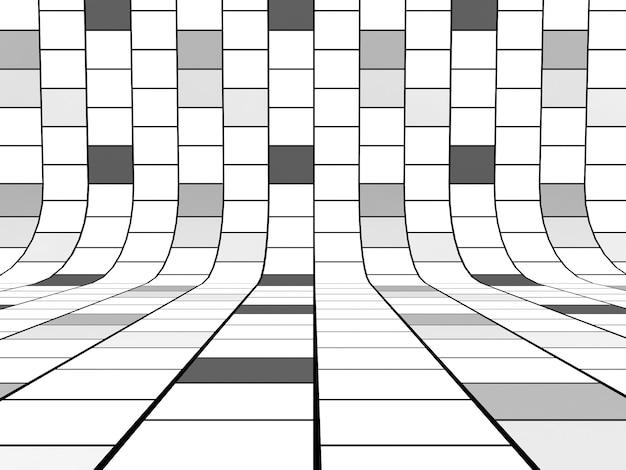 Fundo de linhas de grade preto e branco