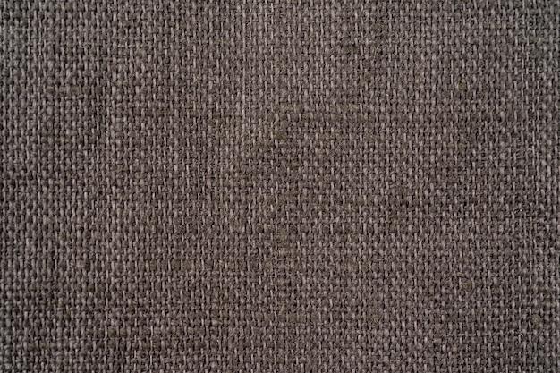 Fundo de linho orgânico cinza escuro têxtil rústico. textura de tecidos. pano ecológico moderno Foto Premium