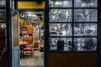 Fundo de loja vintage texturizado